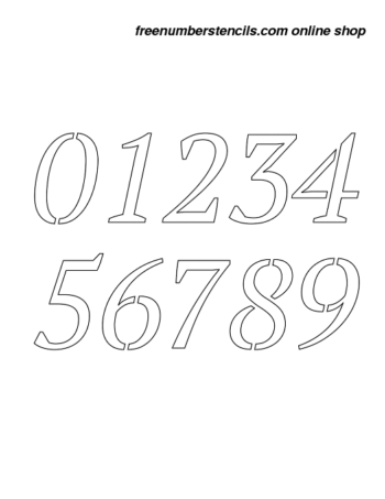 1 Inch Bold & Italic Italic Number Stencils 0 to 9 1 Inch Bold & Italic Italic Number Stencils 0 to 9 Number Stencil Sample