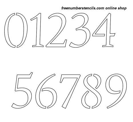 4 Inch Humanist Italic Italic Style Number Stencils 0 to 9 4 Inch Humanist Italic Italic Style Number Stencils 0 to 9 Number Stencil Sample