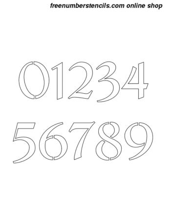 1 Inch Cursive Script Calligraphy Calligraphy Style Number Stencils 0 to 9 1 Inch Cursive Script Calligraphy Calligraphy Style Number Stencils 0 to 9 Number Stencil Sample