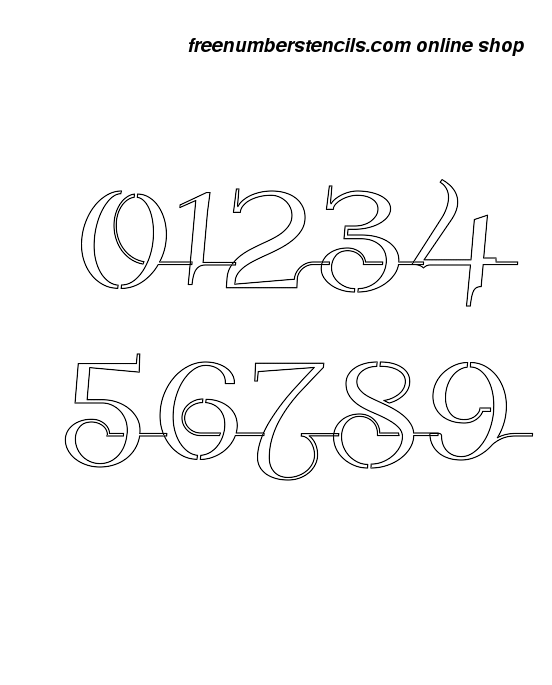 It's just a graphic of 3 Inch Number Stencils Printable Free intended for number two