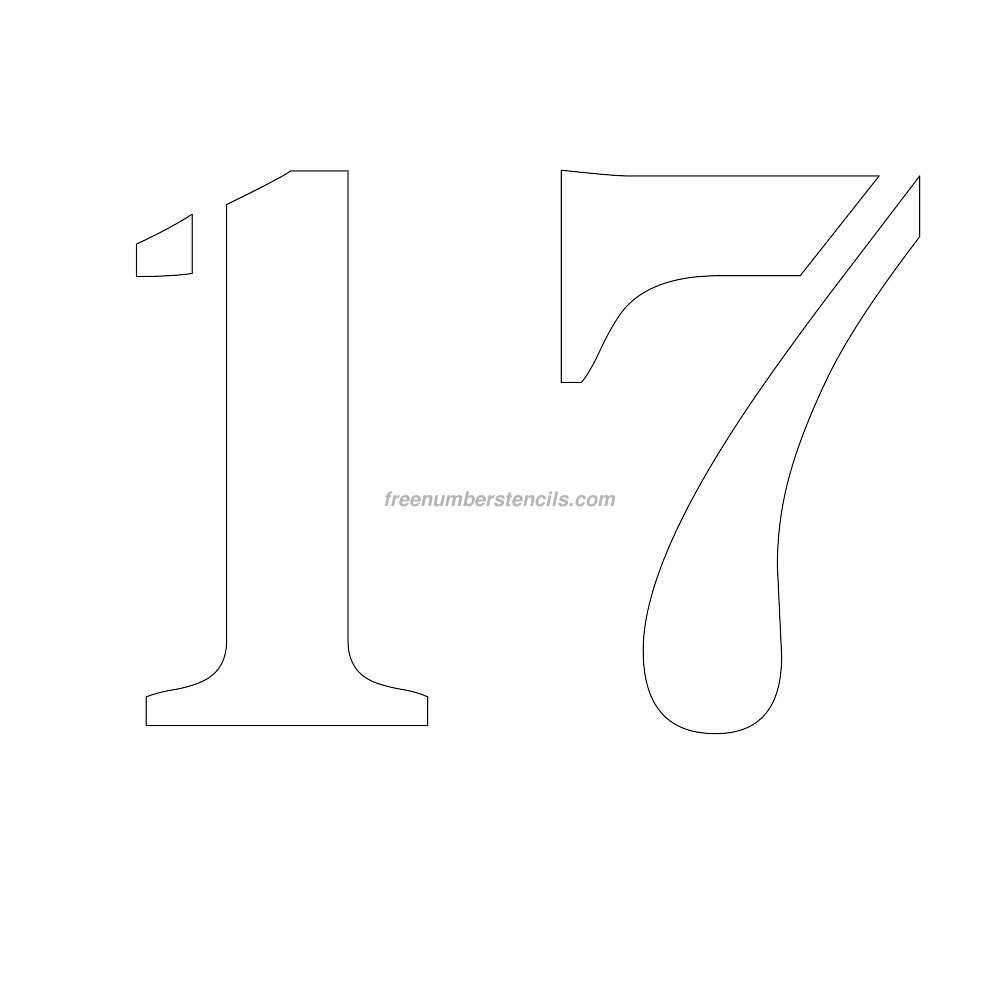 Image gallery number 17 stencil for Helvetica letter stencils