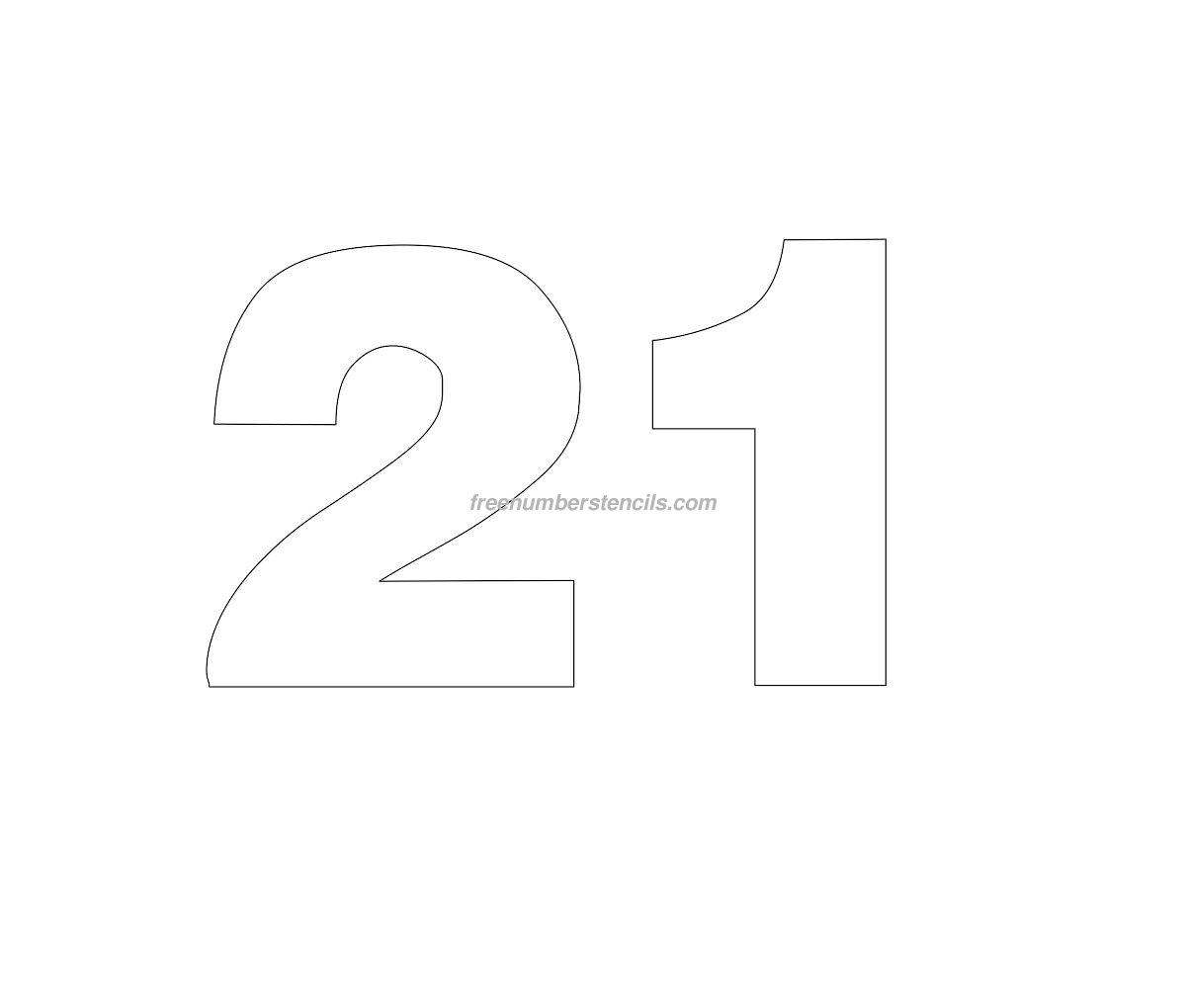 Free Helvetica 21 Number Stencil Freenumberstencils Com