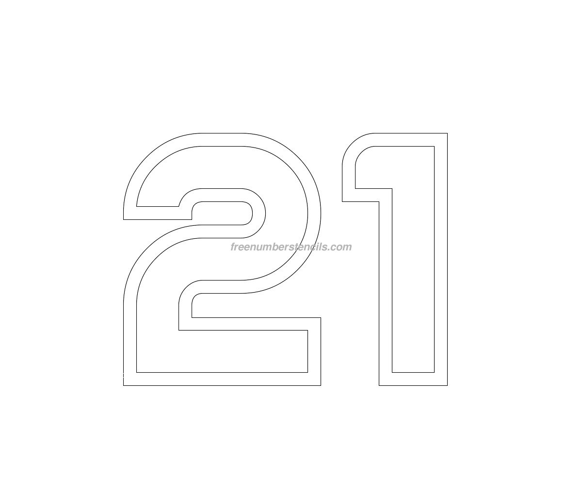 Free Jumbo 23 Number Stencil Freenumberstencils – Number Template