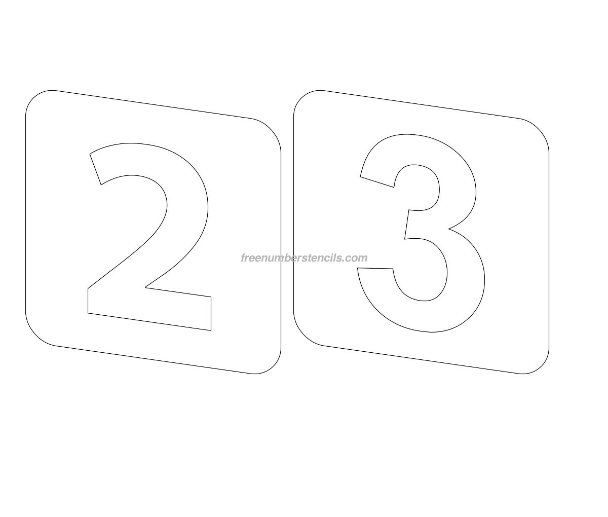 free number templates to print - printable number stencils large number stencils