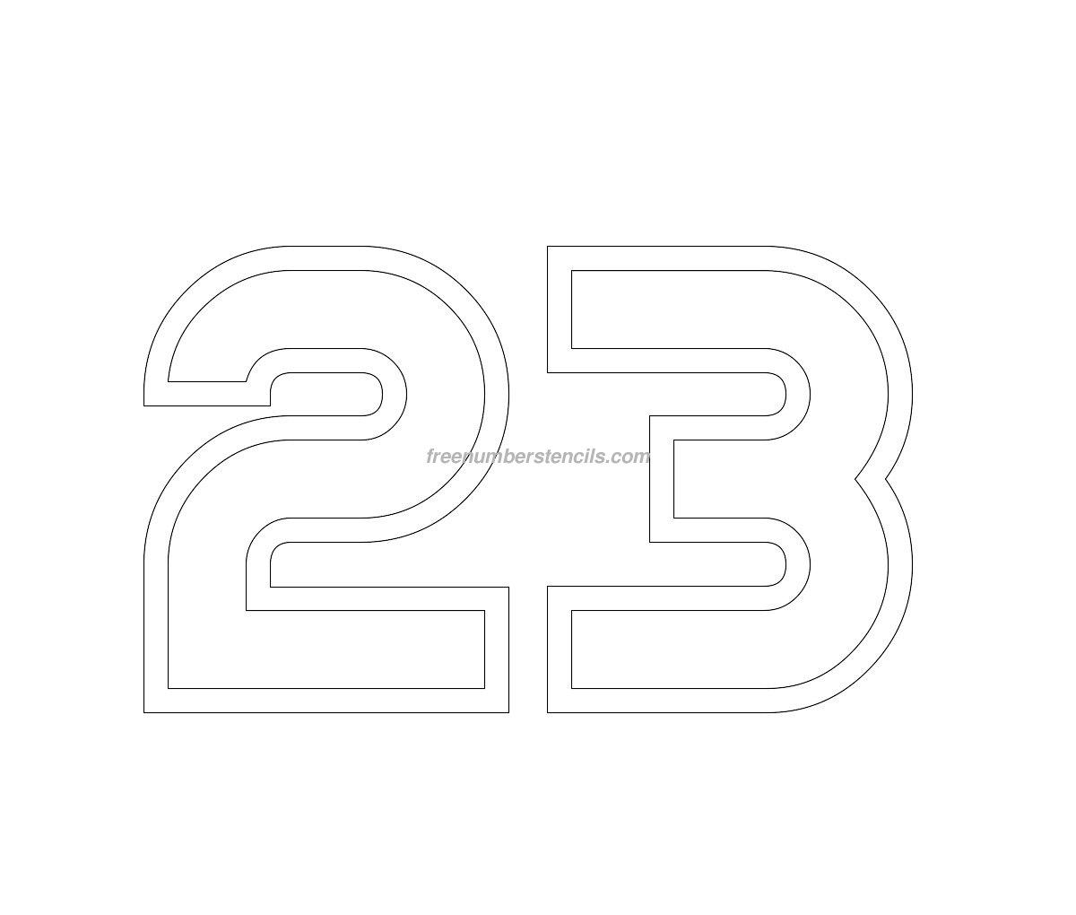 Free Jumbo 23 Number Stencil