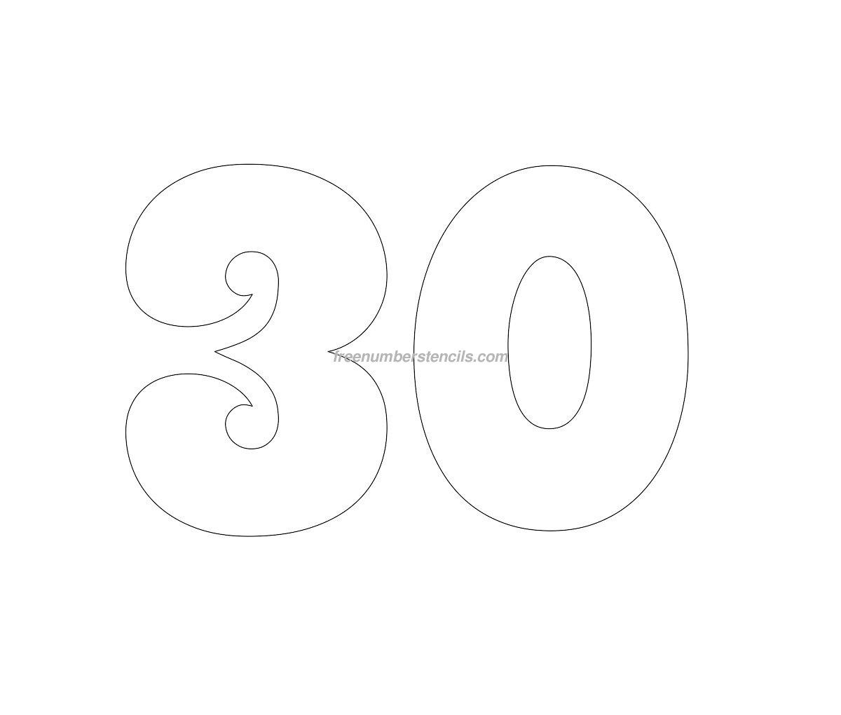 Free Groovy 79 Number Stencil Freenumberstencils – Number Template