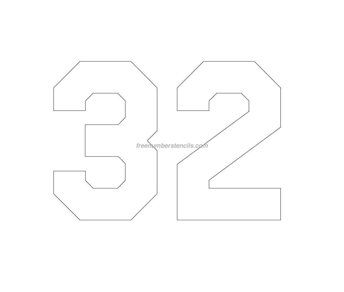 free jersey printable 88 number stencil freenumberstencils com