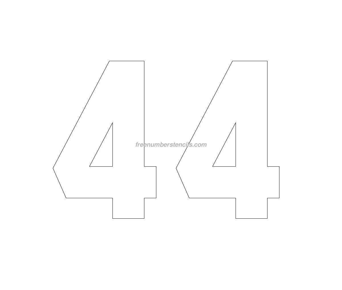 Number 25 pictures printable number 25 - Free Jersey Printable 44 Number Stencil