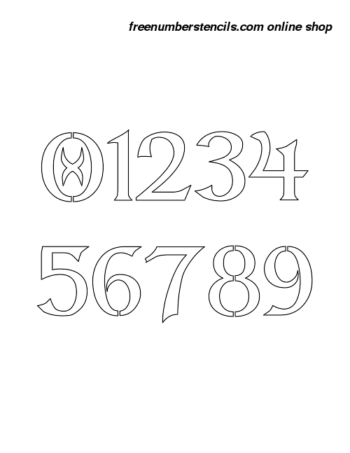 7 Inch Fancy Celtic Celtic Number Stencils 0 to 9 7 Inch Fancy Celtic Celtic Number Stencils 0 to 9 Number Stencil Sample
