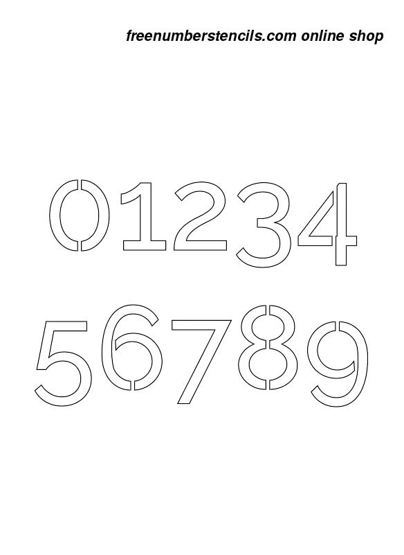 12 Inch Smooth Stylish Sans Elegant Number Stencils 0 To 9