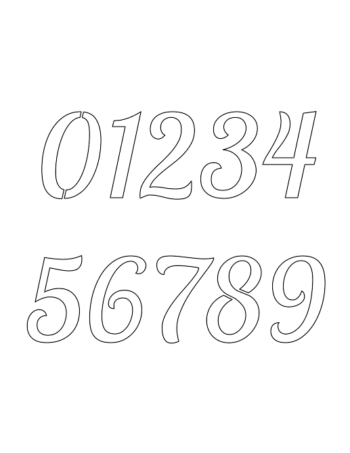 1 Inch Connected Italic Italic Number Stencils 0 to 9 1 Inch Connected Italic Italic Number Stencils 0 to 9 Number Stencil Sample